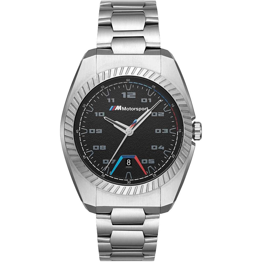 BMW BMW3000 C Uomo 42mm Acciaio/Silver Acciaio Nero Silver Quarzo/Solo Tempo 5ATM