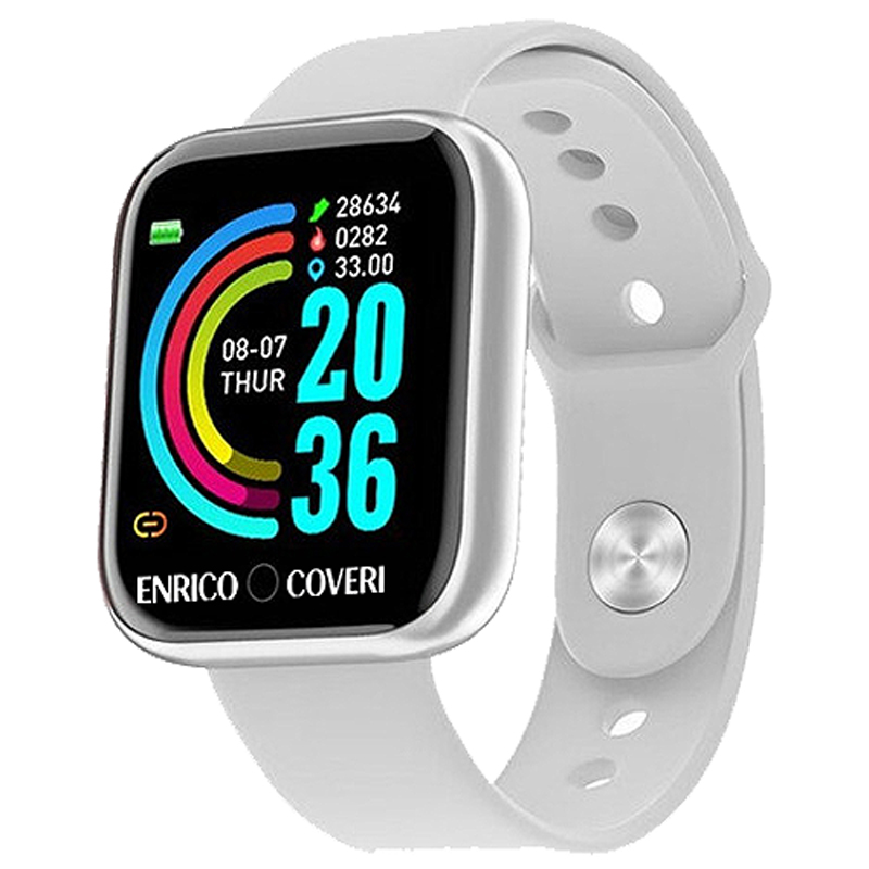 COVERI SWEC003 Unisex 33mm Silicone Silicone Digitale Bianco Android 5.0 3ATM